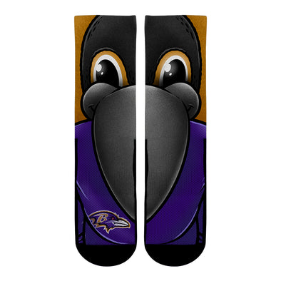 Baltimore Ravens - Split Face Mascot