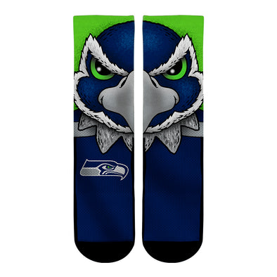 Seattle Seahawks - Split Face Mascot