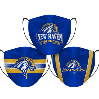 New Haven Chargers - Face Mask - 3 Pack