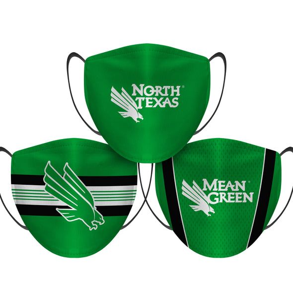 North Texas Mean Green - Face Mask - 3 Pack