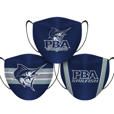 Palm Beach Atlantic Sailfish - Face Mask - 3 Pack