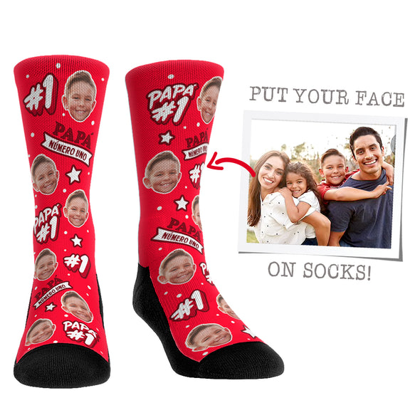 Custom Face Socks - #1 Papá