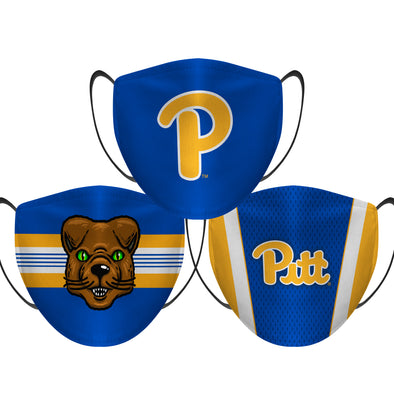 Pittsburgh Panthers - Face Mask - 3 Pack