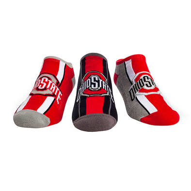 Ohio State Buckeyes - Low Cut Varsity Knitted 3 Pack 2018