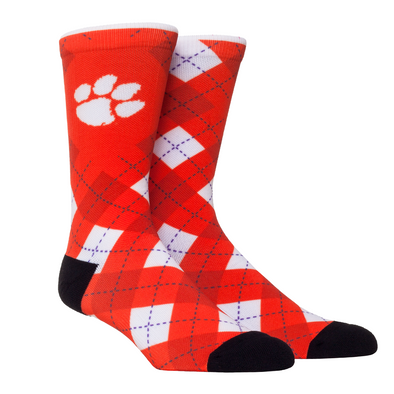 Clemson Tigers - Orange Argyle