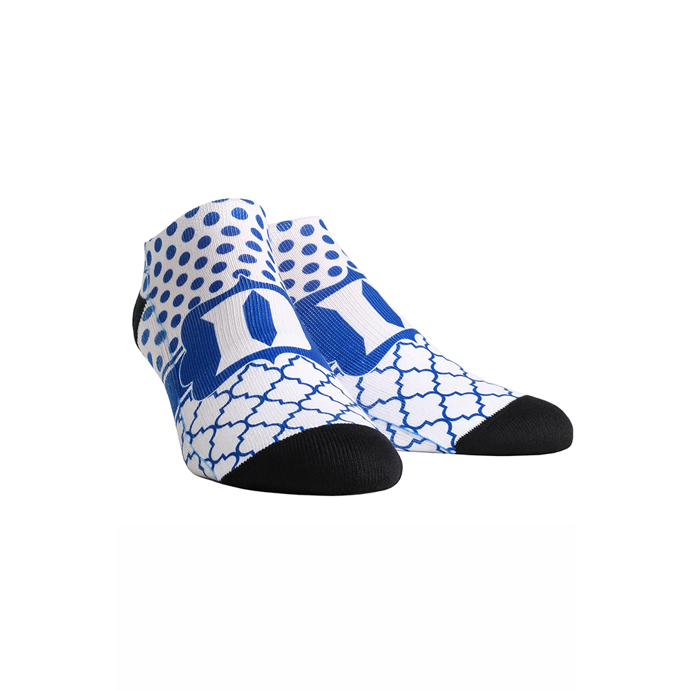 Duke Blue Devils - Quatrefoil Dots Low Cut