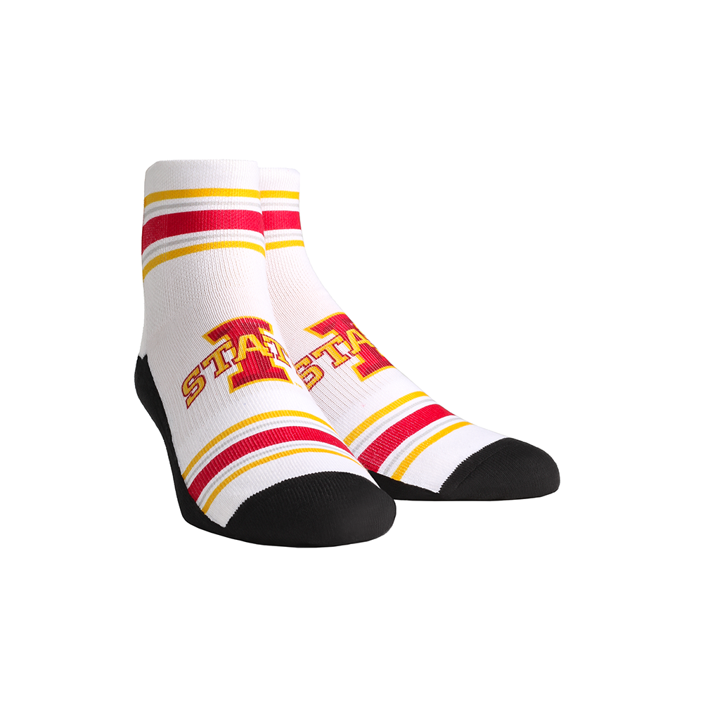 Iowa State Cyclones - Classic Stripes White Quarter