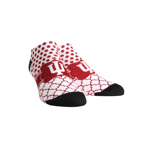 Indiana Hoosiers - Quatrefoil Dots Low Cut