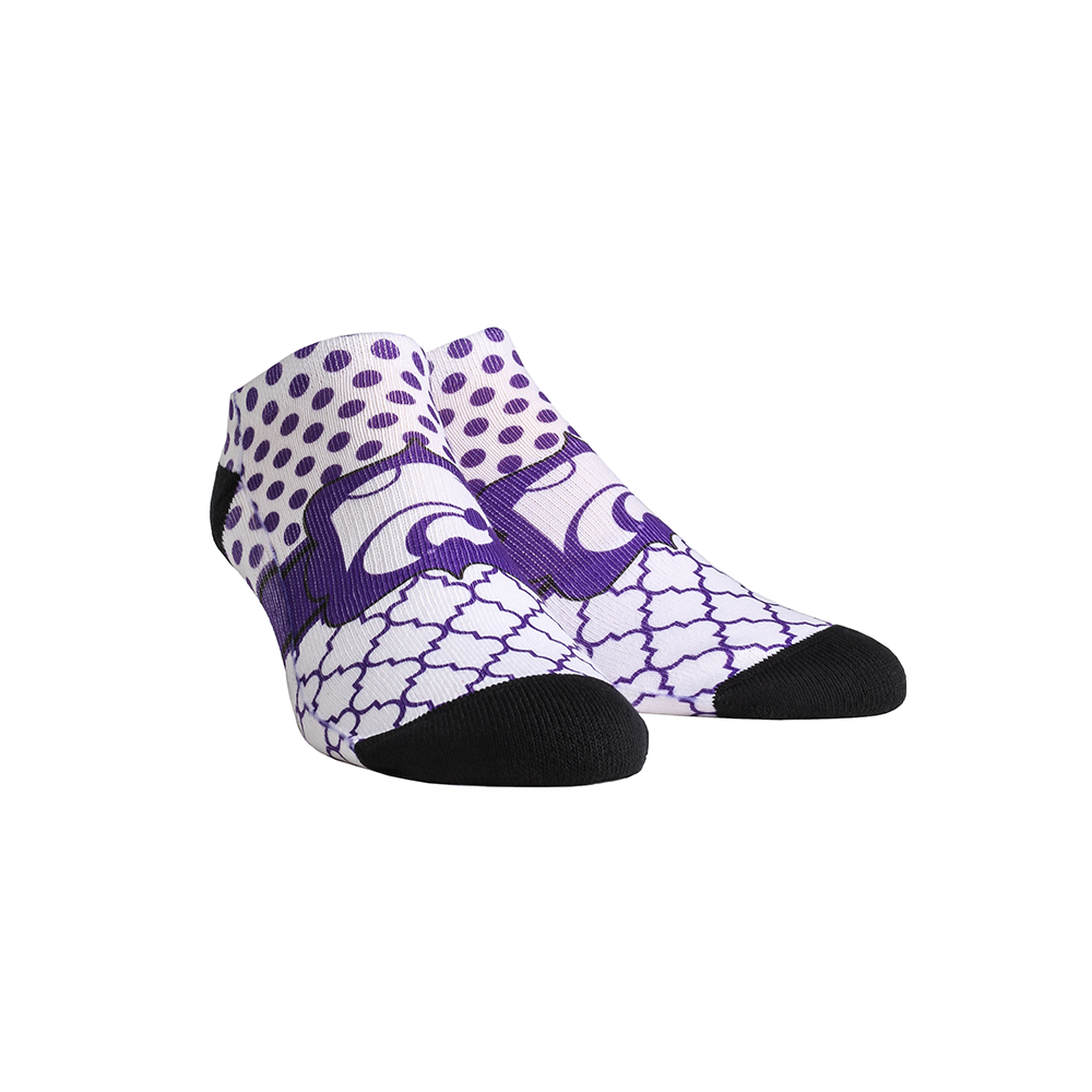 Kansas State Wildcats - Quatrefoil Dots Low Cut