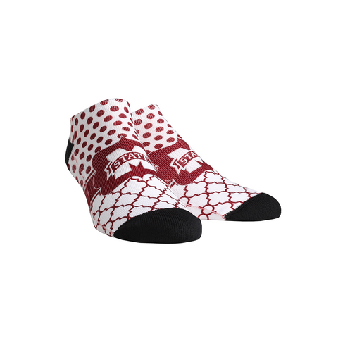Mississippi State Bulldogs - Quatrefoil Dots Low Cut