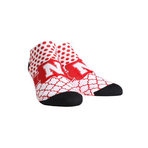 Nebraska Huskers - Quatrefoil Dots Low Cut