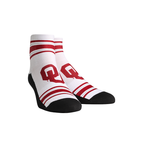 Oklahoma Sooners - Classic Stripes White Quarter