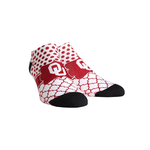 Oklahoma Sooners - Quatrefoil Dots Low Cut