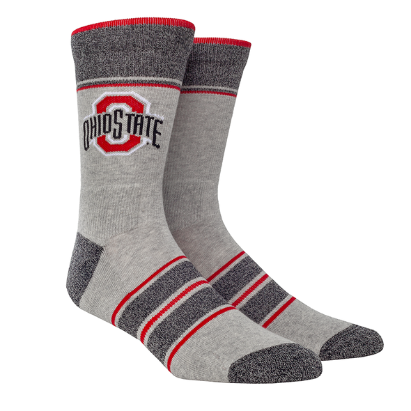 Ohio State Marl Stripe Knitted (Grey/Scarlet)