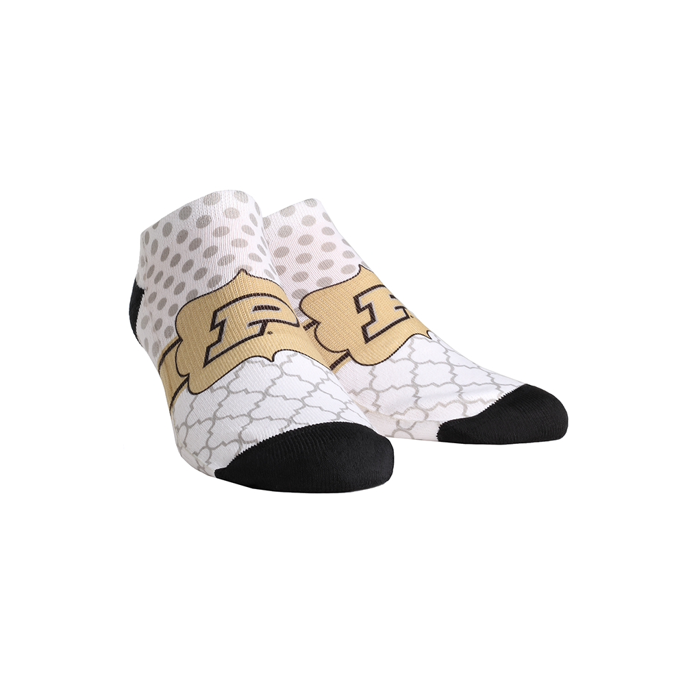 Purdue Boilermakers - Quatrefoil Dots Low Cut