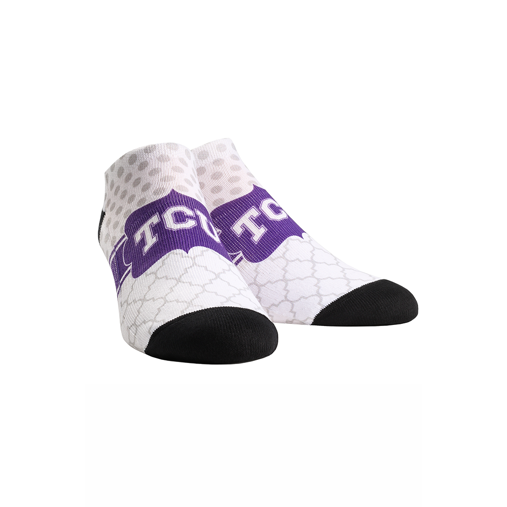 TCU Horned Frogs - Quatrefoil Dots Low Cut