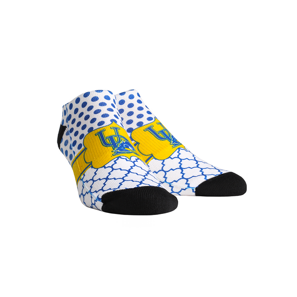 Delaware Blue Hens - Quatrefoil Dots Low Cut
