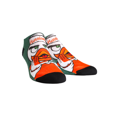 Miami Hurricanes - Sebastian the Ibis Mascot Low Cut