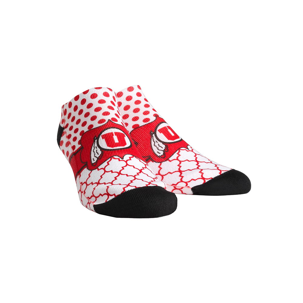 Utah Utes - Quatrefoil Dots Low Cut