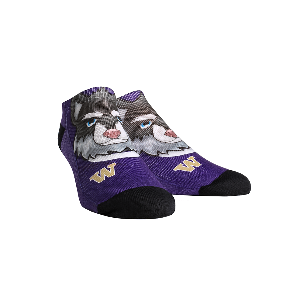 Washington Huskies - Harry the Husky Mascot Low Cut