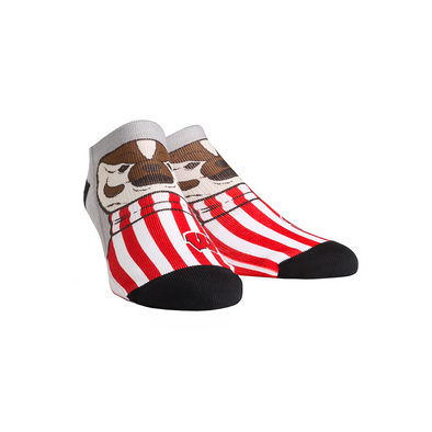 Wisconsin Badgers - Bucky Mascot Low Cut