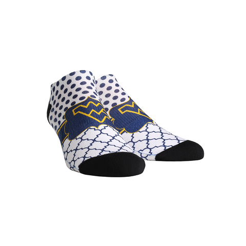 West Virginia Mountaineers - Quatrefoil Dots Low Cut