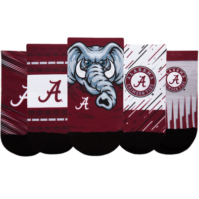 Alabama Crimson Tide - Super Fan 5 Pack - Low Cut