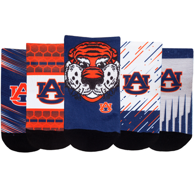 Auburn Tigers - Super Fan 5 Pack - Low Cut