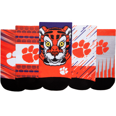 Clemson Tigers - Super Fan 5 Pack - Low Cut