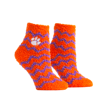 Clemson Tigers - Fuzzy Chevron Socks