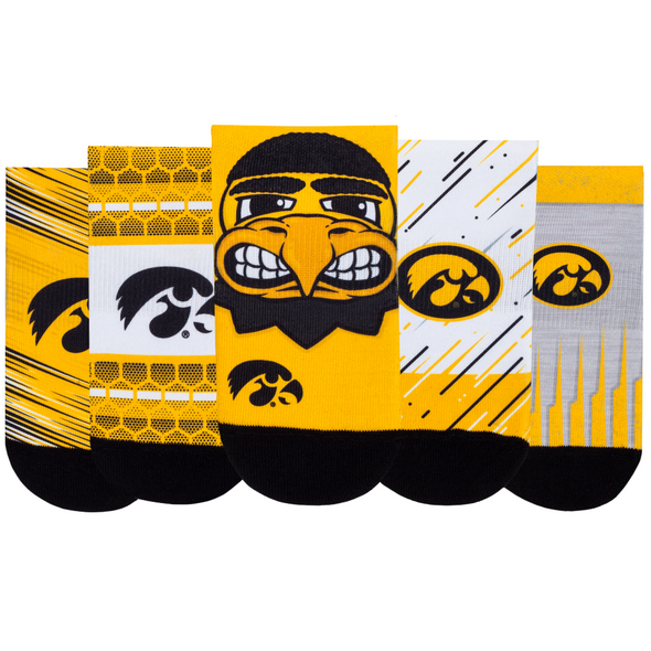 Iowa Hawkeyes - Super Fan 5 Pack - Low Cut
