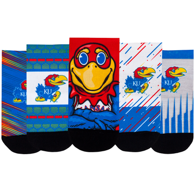 Kansas Jayhawks - Super Fan 5 Pack - Low Cut