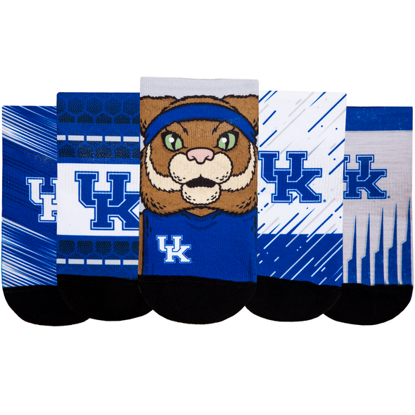 Kentucky Wildcats - Super Fan 5 Pack - Low Cut