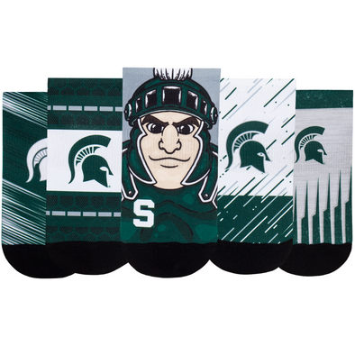 Michigan State Spartans - Super Fan 5 Pack - Low Cut