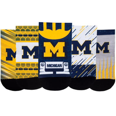 Michigan Wolverines - Super Fan 5 Pack - Low Cut