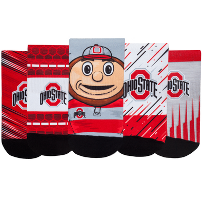Ohio State Buckeyes - Super Fan 5 Pack - Low Cut