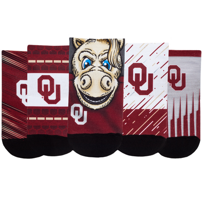 Oklahoma Sooners - Super Fan 5 Pack - Low Cut
