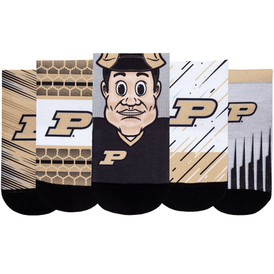 Purdue Boilermakers - Super Fan 5 Pack - Low Cut