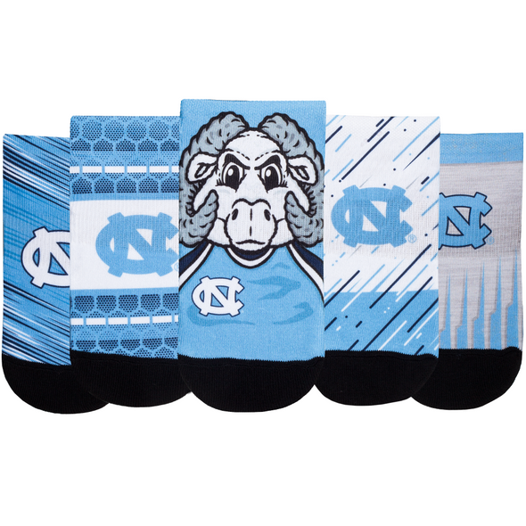North Carolina Tar Heels - Super Fan 5 Pack - Low Cut