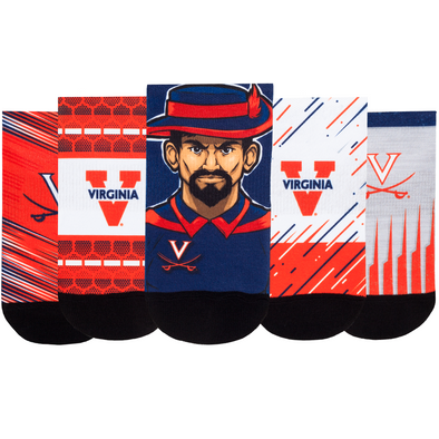 Virginia Cavaliers - Super Fan 5 Pack - Low Cut