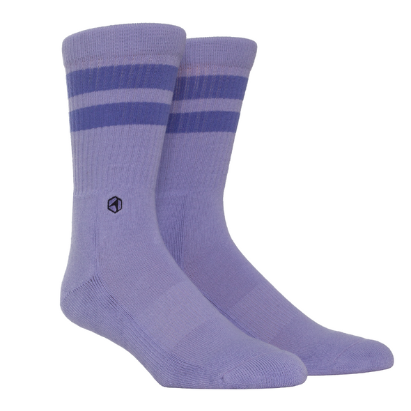 Cotton Casuals - Light Purple Stripes