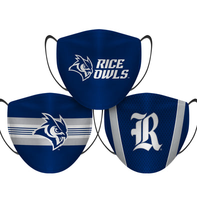Rice Owls - Face Mask - 3 Pack