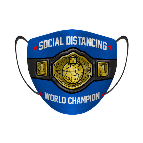 Social Distancing World Champion - Face Mask