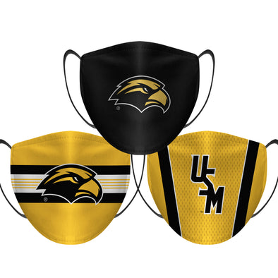Southern Miss Golden Eagles - Face Mask - 3 Pack