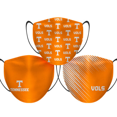 Tennessee Volunteers - Face Mask - Game Time 3 Pack
