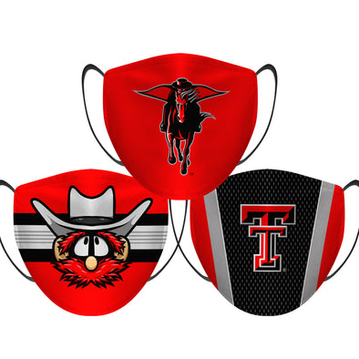 Texas Tech Red Raiders - Face Mask - 3 Pack