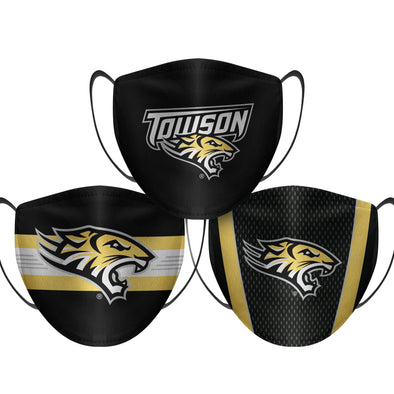 Towson Tigers - Face Mask - 3 Pack