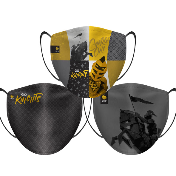 UCF Knights Armor Up Fundraiser - Face Mask - 3 Pack