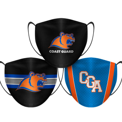 US Coast Guard Academy Bears - Face Mask - 3 Pack