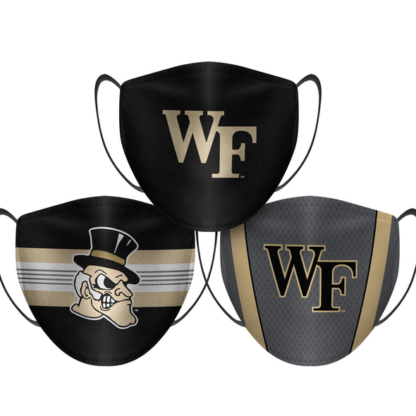 Wake Forest Demon Deacons - Face Mask - 3 Pack